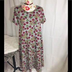 LuLaRoe Floral Carly Dress W/ Miss Piggy Sz Med